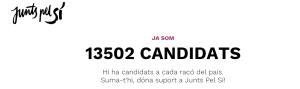 13500 candidats junts pel sí